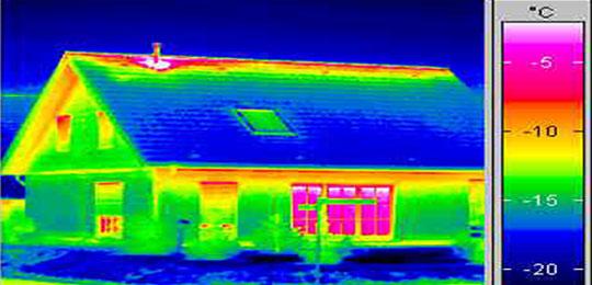 foto de vivienda en infrarrojo