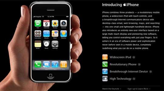 Apple reinventa el teléfono, iphone
