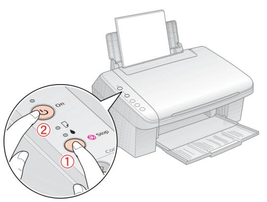 Limpiar cabezales y probar inyectores de EPSON CX5600 sin instalar ...