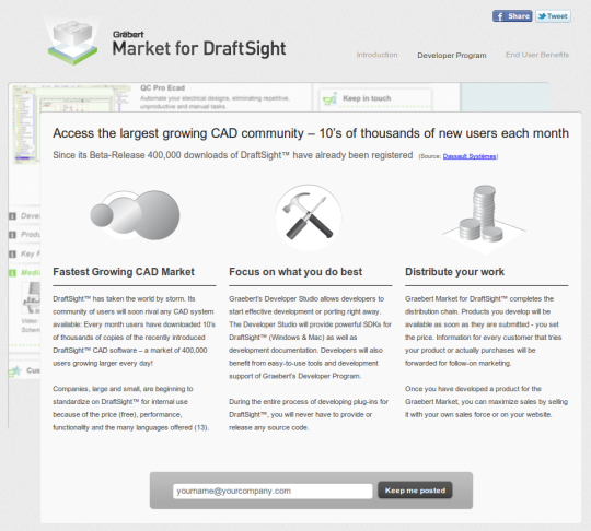 Mercado para DraftSight