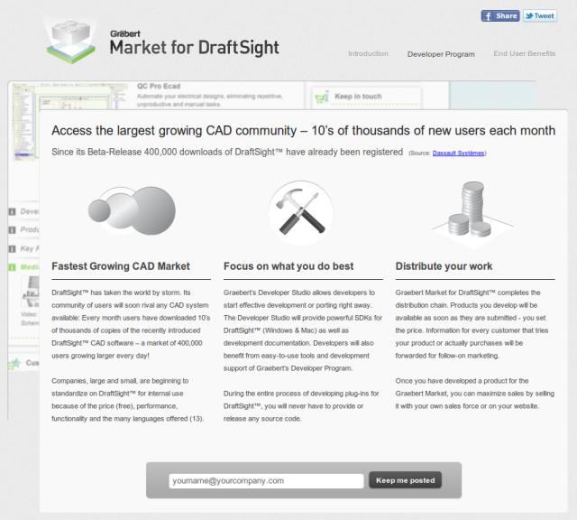 Mercado para DraftSight