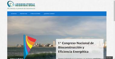 ARQUINATURAL.ORG. Sitio web de la ONG. Wordpress.com Profesional. http://arquinatural.org