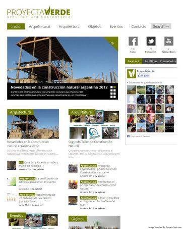 PROYECTAVERDE.COM. Web de diseño y arquitectura Sustentable. Wordpress. http://bit.ly/ArchivoProyectaverde