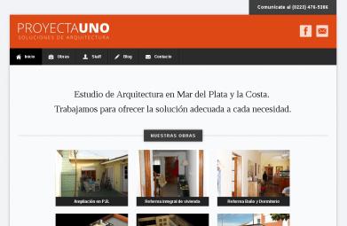 Web de estudio de arquitectura. Wordpress. http://bit.ly/ArchivoProyectauno
