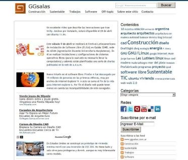 GGSALAS.COM. Mi web personal. Antes .com.ar hoy .com. Antes Wordpress + Theme personalizado, hoy Wordpress.com Profesional. https://ggsalas.com/ y http://bit.ly/ArchivoGGsalasComAr